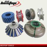 CNC Machine Profiling Wheel für Stone/Abrasive Chamfering Profiling Router