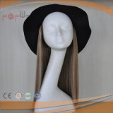 El cabello humano Machina hizo Hat caer peluca (PPG-014132-l)