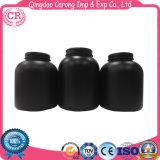 Bottiglia cosmetica della plastica dell'HDPE della polvere nera del proteina del siero