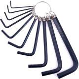10 in 1 Handwerkzeug-Installationssatz-Schlüsselketten-Schlüssel-Hex Schlüssel-Set