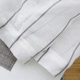 신선한 줄무늬 Tulle 부엌 커튼이 거실 자카드 직물을%s Tulle 커튼에 의하여 연약한 보일 길쌈한다