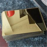 strato dorato dello specchio dello strato acrilico d'argento 2mm dello specchio di 1.5mm per la decorazione di cerimonia nuziale