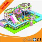 Il tema della caramella scherza il campo da giuoco dell'interno del gioco molle per il parco di divertimenti