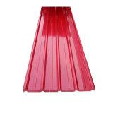 カラー上塗を施してある屋根瓦またはPrepainted Sheet/PPGIの波形の屋根ふきシートに屋根を付けること