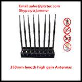 8 안테나 4G 셀룰라 전화 GPS WiFi 신호 방해기 UHF VHF Lojack 방해기