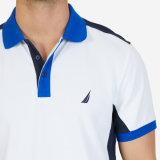 Weißer Klassiker-passendes Erbe-Farben-Block-Polo-Hemd