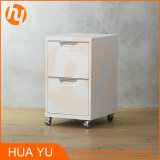 Ikea HomeかWhiteのOffice Two-Drawer Mobile Rolling Filing Cabinets