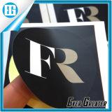 Ярлык Fr логоса круглых черных стикеров цвета изготовленный на заказ