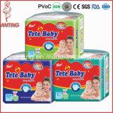 Couche-culotte bon marché de bébé des prix, usine de couche-culotte de bébé, couche-culotte Afrique de bébé