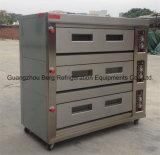 Industriële Oven 3 Dek 12 van het Gas Dienbladen voor Brood en Cakes