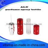 Pulverizador de perfume de aluminio Mini Atomizer botella rellenada con la parte inferior