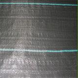 Estera de malezas negra PP y PE con línea verde