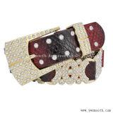Пользовательские моды декоративные Rhinestone Преднатяжитель плечевой лямки ремня безопасности из натуральной кожи контакт для женщин