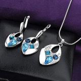 Conjunto al por mayor del collar de la joyería de traje del oro de la mujer de los granos del cristal