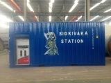 Combustibile messo in recipienti che riempie le stazioni di servizio mobili