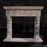 Adorável de inspiração gótica lareira de mármore Mantel em pedra arenito