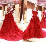 Dubai 2017 moslemisch lang plus Größen-Hochzeit Eveningdress Kleid Wgf141