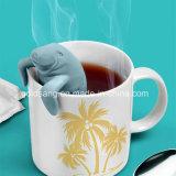 Tè ecologico Infuser del silicone di figura del leone di mare delle prese di fabbrica