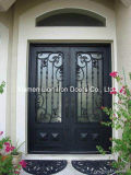 Personalizar as portas de entrada dupla de ferro forjado com gio