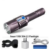 Batterie rechargeable USB CREE L2 3800LM lampe torche à LED de la Banque d'alimentation