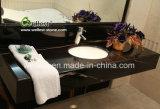 ホテルのカウンタートップの台所上棒上のための贅沢で黒い大理石の平板