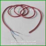 Тефлон изолировал кабельную проводку обшитую силиконом