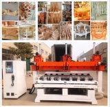 Máquina de cinzeladura de madeira do CNC do multi router do CNC da cabeça/5 linhas centrais