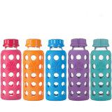 Frasco de leite portátil do bebê de frasco do curso do copo de vidro portátil da bebida