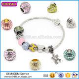 De Charme van het Bergkristal van de Juwelen van de Manier van de douane, de Levering voor doorverkoop van de Armband van de Charme van de Parel