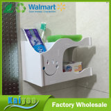 Multifuncional pared de baño impermeable tallada de doble cubierta jabón cepillo de dientes caja de pasta de dientes