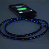 cable de datos ligero de destello del teléfono del 1m LED para Samung, iPhone
