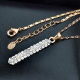 新しい方法香水瓶デザイン水晶金の宝石類セット