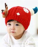 Крышка Knit бархата формы оленей детей