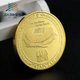 Personnaliser les pièces de monnaie de médaille de souvenir d'or de Michael Jackson 3D avec la boîte en plastique (JIABO-1017)