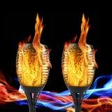Venta caliente Parpadeo Solar jardín lámpara llama