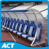 Banco de desbloqueio de jogadores portáteis VIP com abrigo para esportes de equipe