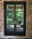 Супер входные двери ковки чугуна обеспеченностью качества с стеклом