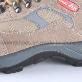 Sapatas de segurança de couro da camurça com dedo do pé e o plutônio de aço Outsole RS8137