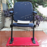 Théâtre de pliage de gros fauteuil avec accoudoirs en tissu bleu pour l'Auditorium et l'Église Yc-G66