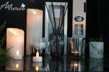 Комплект отражетеля тростника стеклянной бутылки 3 с серебром отжал на стекле в коробке окна подарка