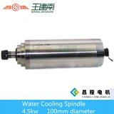 Шпиндель водяного охлаждения диаметра 4.5kw Er20 Changsheng 100mm для Woodcarving