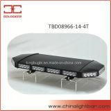 luz de advertência mini Lightbar do diodo emissor de luz da tampa do preto 56W (TBD08966-14-4T)