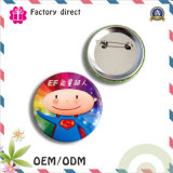 Custmo Print Tin Metal Button Badge with Safety Pin Ppmaterial SGS