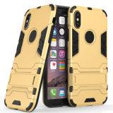 Híbrido de teléfono permanente paragolpes protector para iPhone x