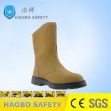 Usine prix bon marché Semelle PU Direct Steel Toe en cuir véritable Travailler durable industriel étanche des bottes de sécurité