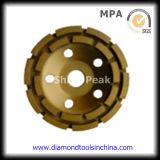 두 배 Row Diamond Cup Grinding Wheels Polishing Concrete 및 Floor