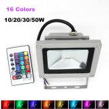 16 Modus LED-9 im Freien Fernsteuerungsscheinwerfer RGB-10W