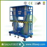 6m zur hydraulischen Aluminiumlegierung-Strichleiter des beweglichen elektrischen Aufzug-10m