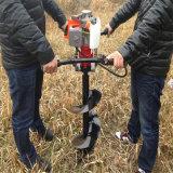Novo Design Portátil a gasolina 2 tempos a gasolina Furar gelo /massa Manual do sem-terra/Sem-fim