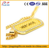 Decorationのための昇進のReflective Gold Plate Zinc Alloy Metal Dog Tag